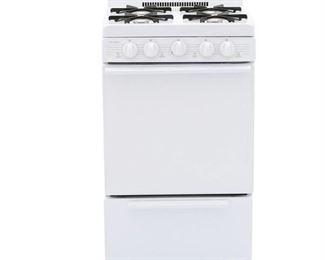 "Premier 20"" Freestanding White Gas Range - SAK1000P01"