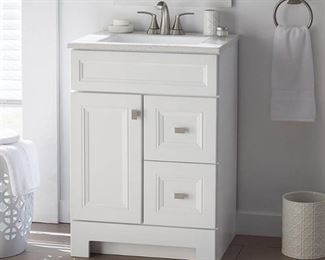 Sedgewood 24-1/2 in. W Bath Vanity in White