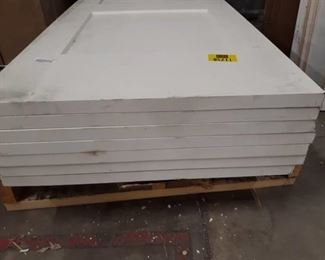 "Lot of 7 Basic White Doors (30""x80"")"
