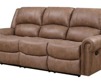 Emerald Home Furnishings U7122-00-05 Spencer Reclining Sofa, Standard, Brown