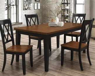 Homelegance DINING TABLE W/ SHAKER LEG, BLACK