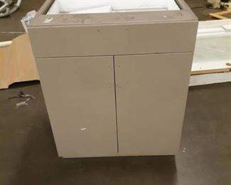 "31""x39""x31"" Grey Cabinet W/ Drawer ."