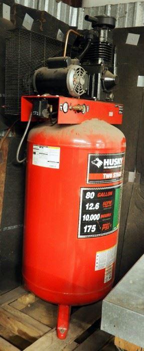 Husky Pro 2 Stage, 80 Gallon Air Compressor, 175 Max Psi, Model #HS7810X5AJ, 230 Volt