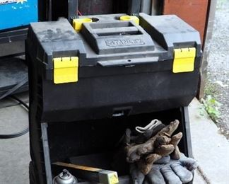 Stanley Rolling Tool Chest Contents Include Welding Rod, Contact Tips And More