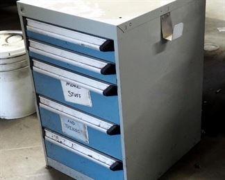"Rousseau Metal 5 Drawer Storage Cabinet, 28"" x 18"" x 22"", Qty 2"