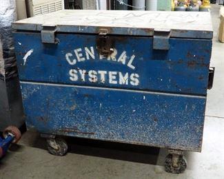 """Steel Rolling Job Box, 39"""" x 50"""" x 32"""""""