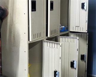 "Tennsco Steel Lockers, Set Of 3, 72"" x 45"" x 18"""