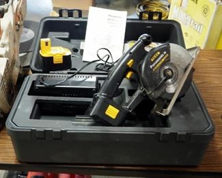 Panasonic Battery Powered Metal Cutter Model #EY3530 Includes Extra Blade, 16.6 Volt Batteries, Universal Charger And Carrying Case