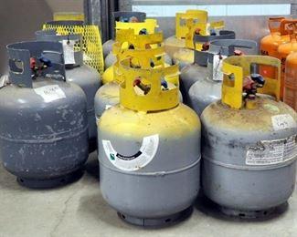 Partially Full Refrigerant Tanks, R410, R22, Qty 14
