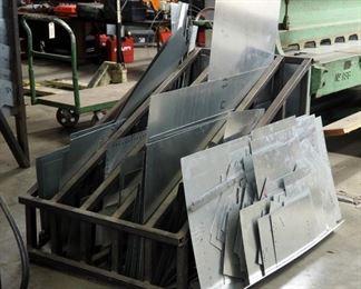 "Steel Raw Material Storage Rack, 37"" x 36"" x 55"" Includes Sheet Metal Scrap"