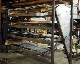 "Steel Raw Material Storage Rack, 88"" x 122"" x 42"""