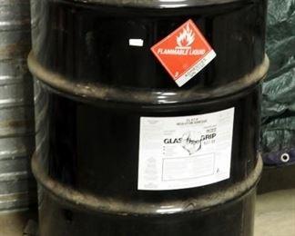 55 Gallon Drum Of Glass Gripo Black Insulation Adhesive HArd Cast Solvent Based, 637-SE, Sealed New Barrel