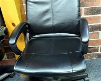 Faux Leather Office Chairs, Qty 4