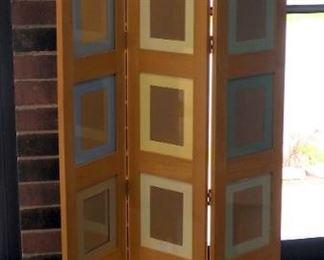 "Decorative Solid Wood,Tri-Fold Photo Room Divider, 68.5"" x 34"""