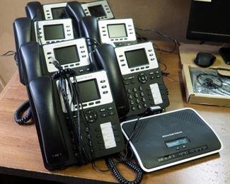 Grandstream Multi Line IP Phones Model #GXP2130, Qty 7