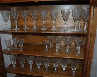 Sets of Crystal - elegant glass