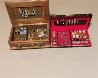 Vintage cuff links and tie bars