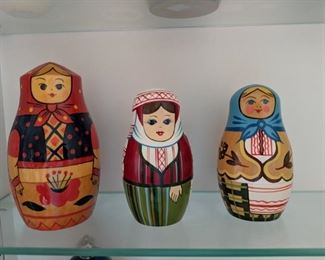 Wooden stacking dolls