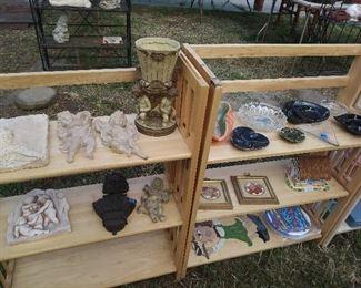 Vintage ashtrays and cherub plaques
