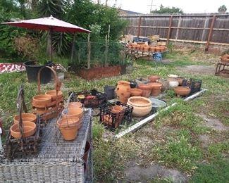 Vintage Italian clay pots