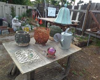 Antique garden decor