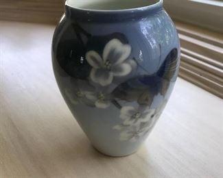 Royal Copenhagen Hummingbird Vase