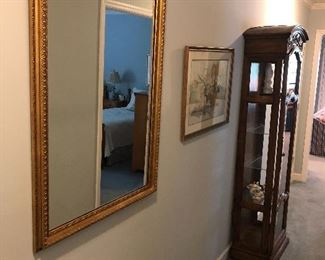 Large mirror, light curio