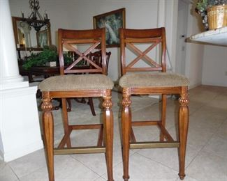 2 High Bar Stools, match the Dinette Set