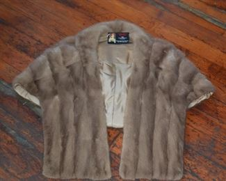 light and heavy vintage coats, shawls and furs