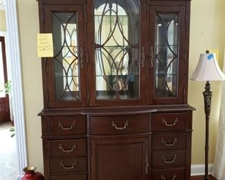BASSET CHINA CABINET 60 INCHES WIDE $ 450.00