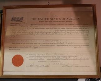 Signed Theodore Roosevelt most likely by office staff