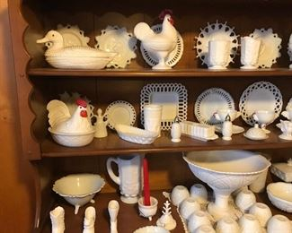 This is THE REAL DEAL! Pristine milk glass collection