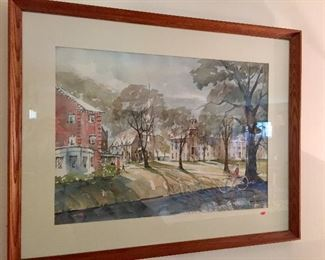 Francis Newell, Wethersfield watercolor.