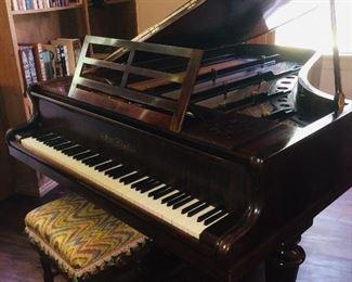 1880 Collard and Collard English 6 1/2 ft grand piano--gorgeous