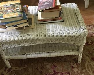 Wicker table, part of set.