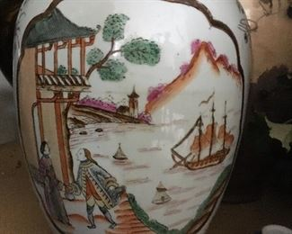 Very Nice lidded asian urn.