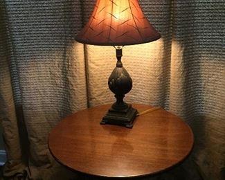 Table lamp and Custom Draperies