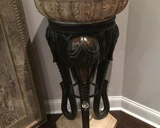 Elephant planter decorative stand