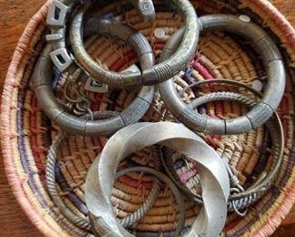 Money / currency brass bracelets from Africa