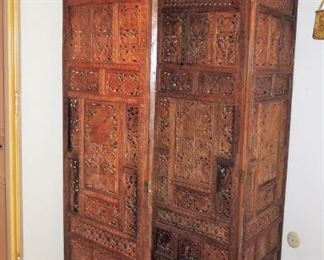 Large - tall and wide carved screen from Africa