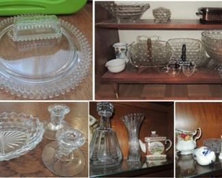 Crystal:  Federal glass, Candlewick, Fosteria American and some Waterford