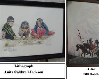 American Indian lithographs