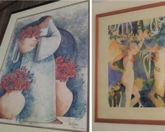 Pretty woman lithographs by Mullan