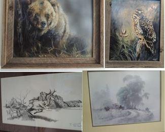 Carol Kalhagen Washington State lithographs