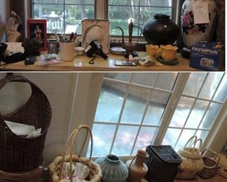 large urns, original pottery, McCoy, large unique baskets
