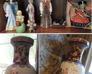 Urns, figurines, trinket boxes