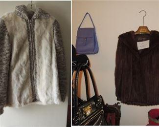 2 fur coats
