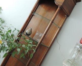 Tiger oak tall shelf