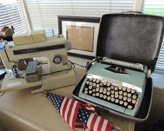 sewing machine and typewriters