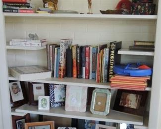 books and office supplies and decor